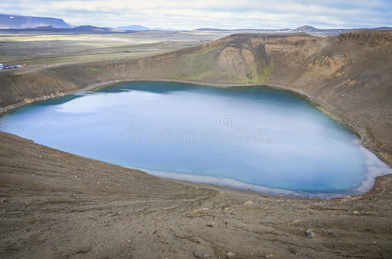 Volcano crater, Iceland royalty free stock photos