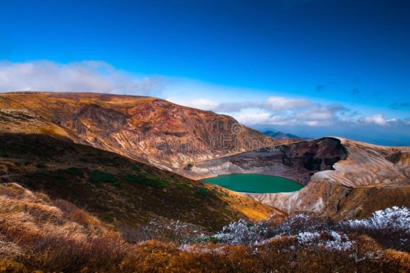 Volcano Crater van Onderstel Zao, Japan royalty-vrije stock foto