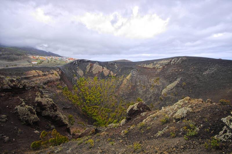 Volcano de Teneguia Canarino, Spagna fotografie stock