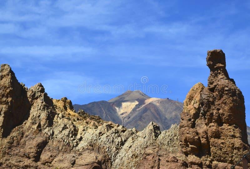 Volcano El Teide no parque nacional de Las Canadas del Teide situado no centro de Tenerife, Ilhas Canárias, Espanha fotos de stock royalty free