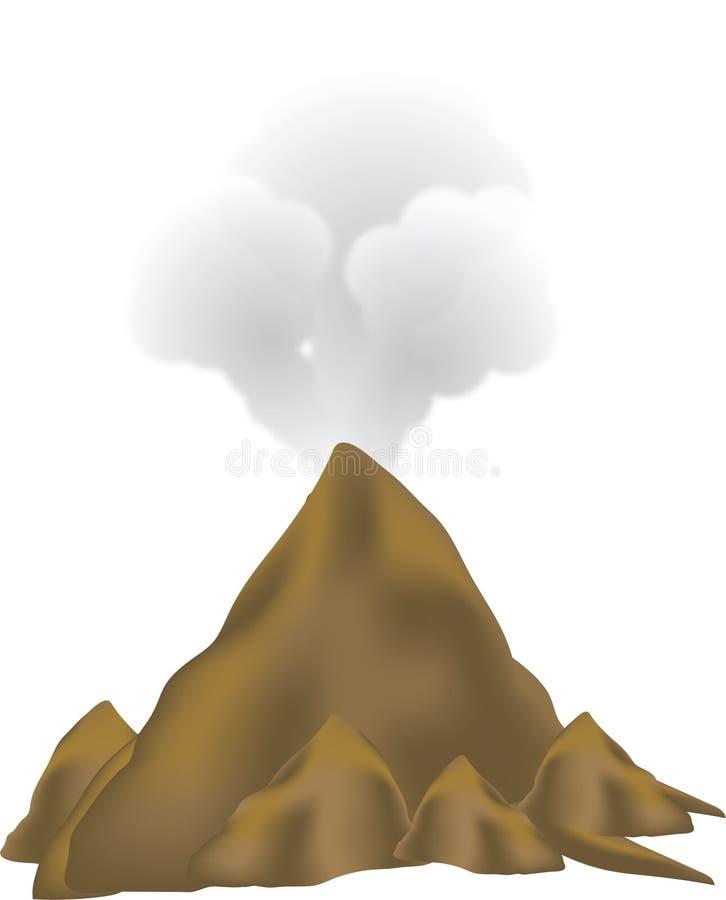 Volcano eruption royalty free illustration