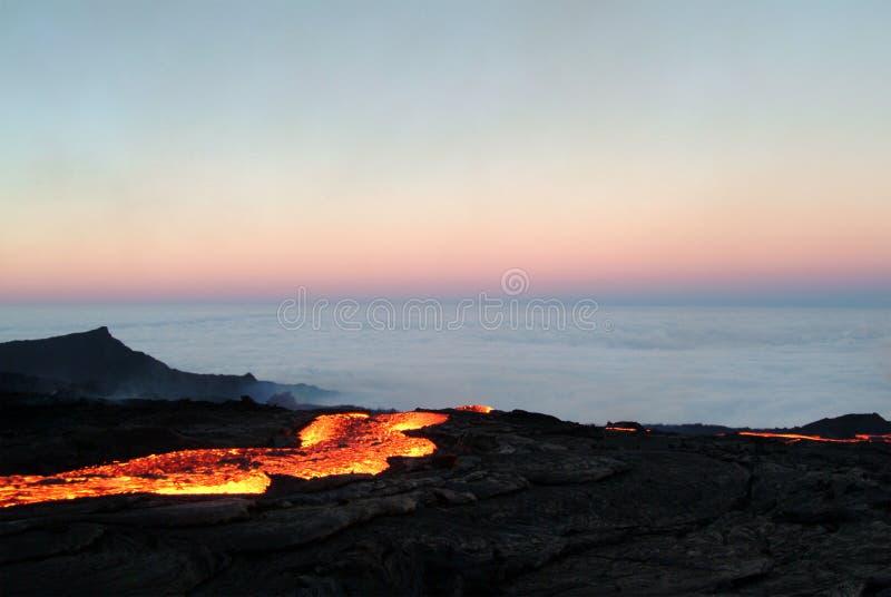 Volcano eruption royalty free stock photo