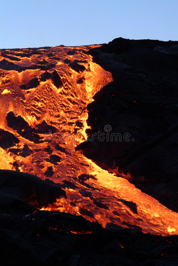 Volcano eruption. In Reunion island royalty free stock photos