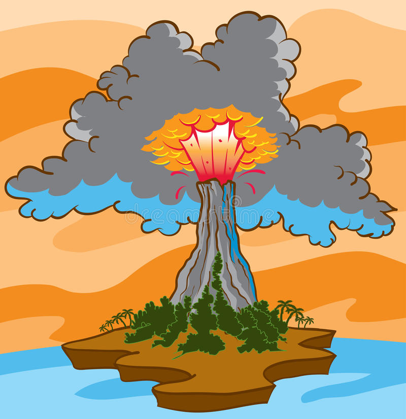 Volcano Eruption stock illustratie