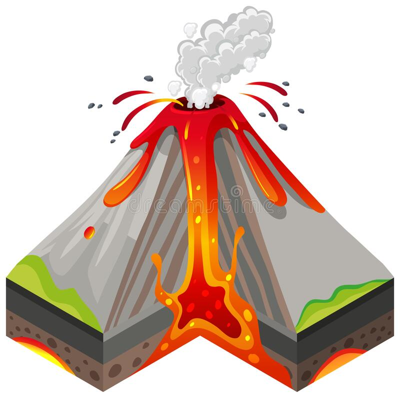 Volcano Eruption with Lava - Download Free Vectors, Clipart Graphics &  Vector Art