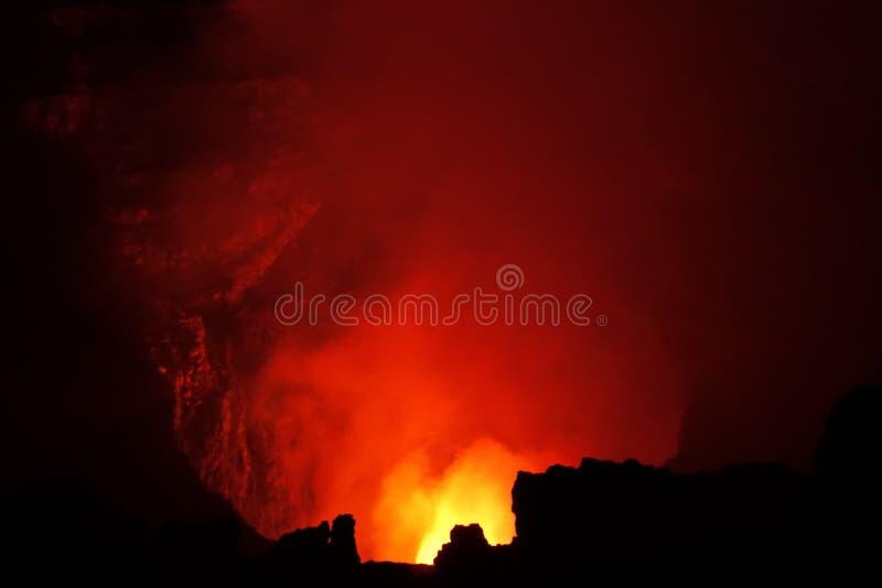 Volcano Fire dans le trou image libre de droits