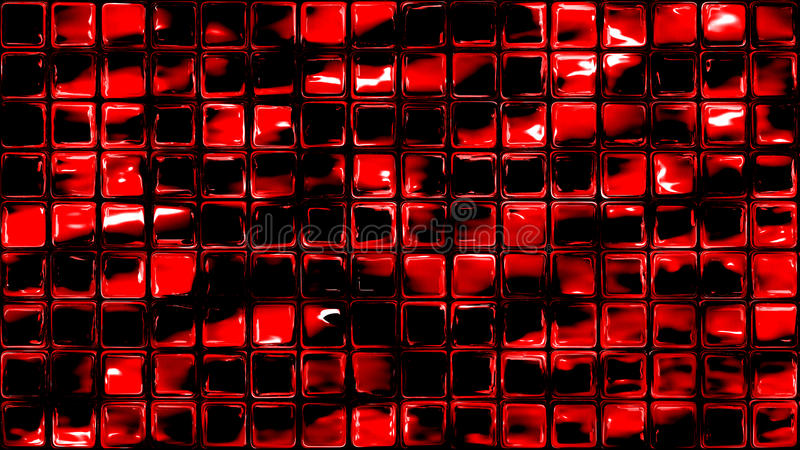 Volcano glass tiles geometric background. Red volcano small glass tiles wall or window. Seamless background royalty free illustration