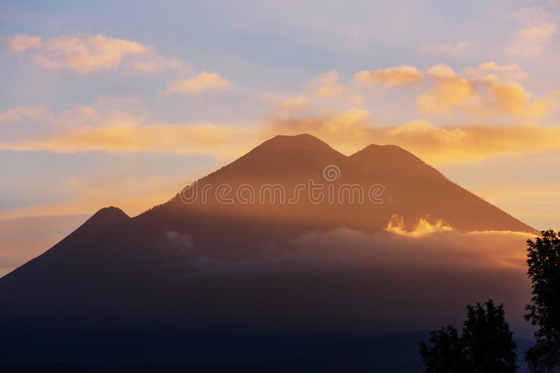 Volcano in Guatemala. Beautiful volcanoes landscapes in Guatemala, Central America royalty free stock photography