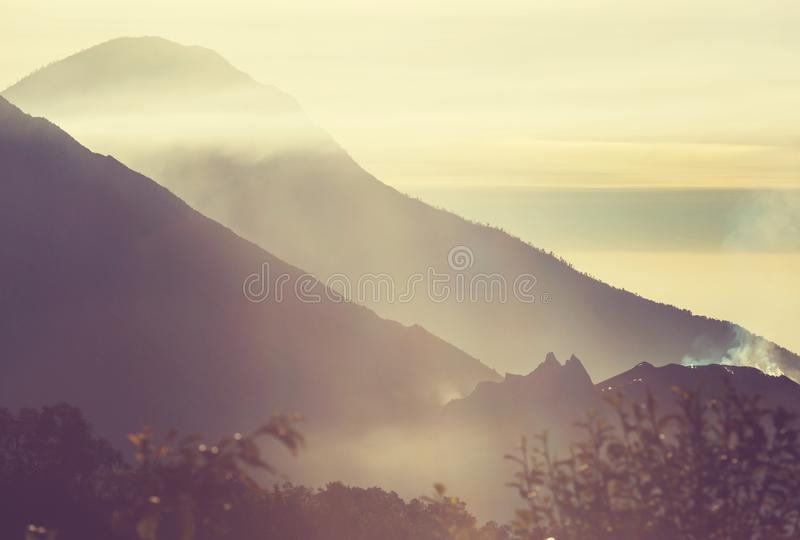 Volcano in Guatemala. Beautiful volcanoes landscapes in Guatemala, Central America stock images
