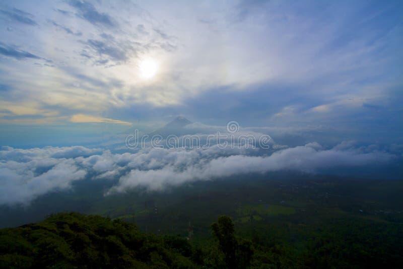 Volcano in Guatemala stock photo