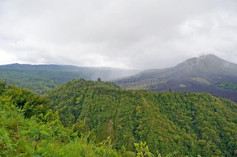 Volcano Gunung batur bali indonesi? royalty-vrije stock foto's