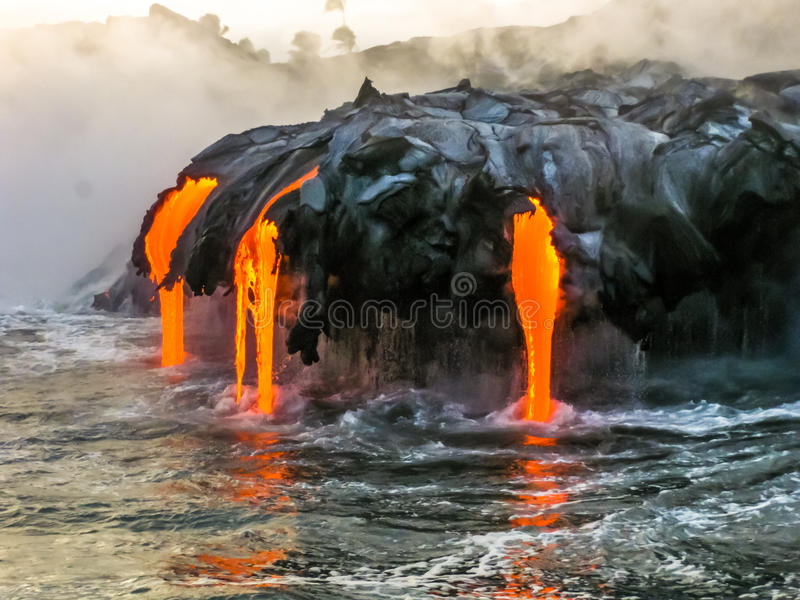 Volcano Hawaii photo stock