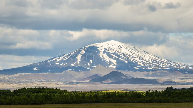 The infamous Hekla volcano, South Iceland stock photo