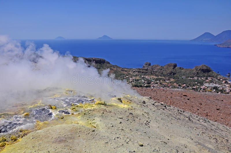 Download Volcano island. stock image. Image of eruption, crater - 25269539