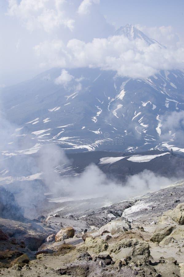Volcano on Kamchatka royalty free stock image