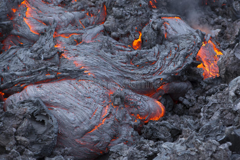 Volcano Lava royaltyfri bild