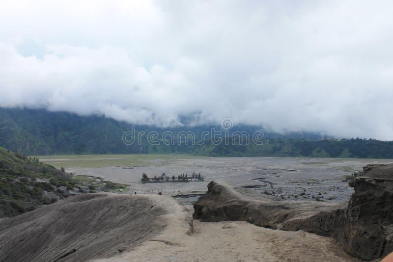 Volcano Mount Bromo Eruption, Java Indonesia orientale fotografia stock