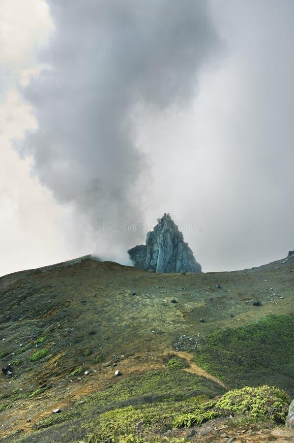 Volcano Mount Sinabung stock image