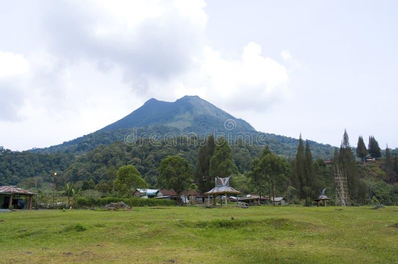 Volcano Mount Sinabung stock photography