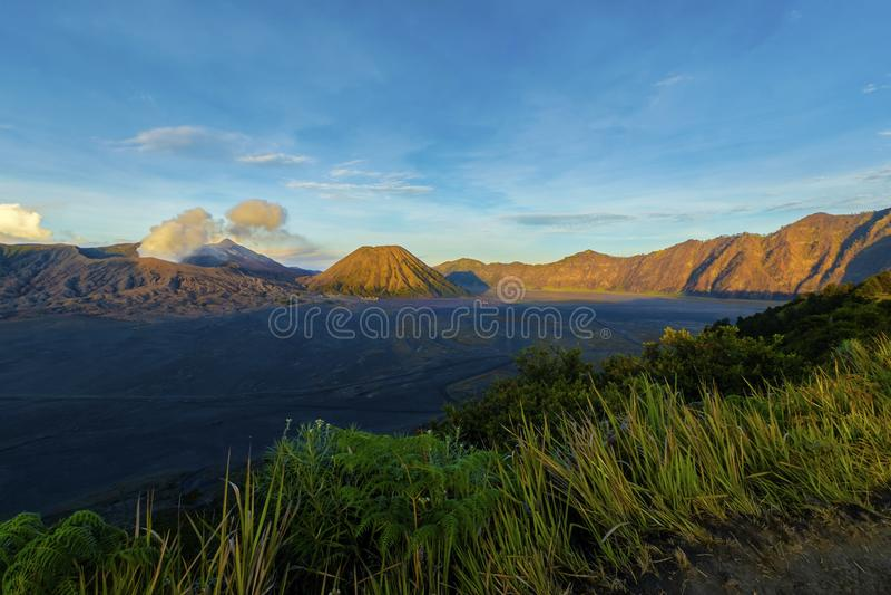 Volcano Mount von Bromo, Malang Indonesien stockfotos