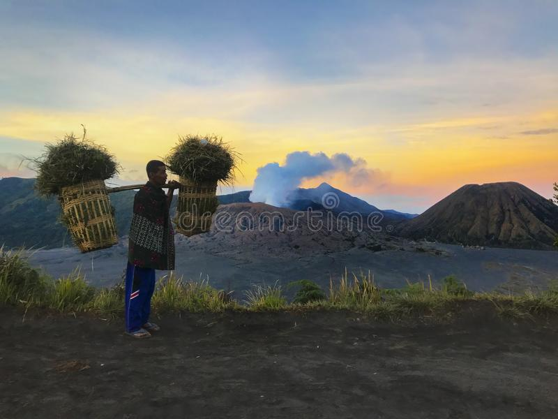 Volcano Mount von Bromo, Malang Indonesien stockbilder