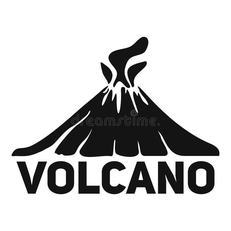Volcano mountain logo, simple style stock illustration