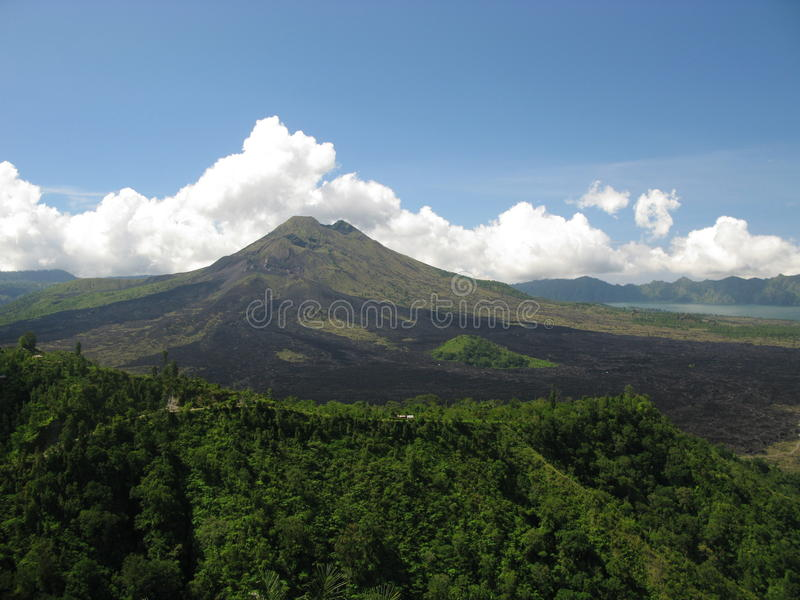 Volcano Mt. Agung, Bali royalty free stock photo