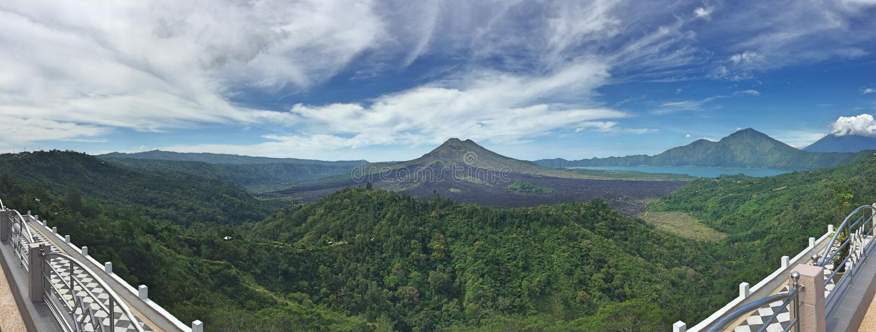Volcano Mt Batur Bali royalty free stock photos