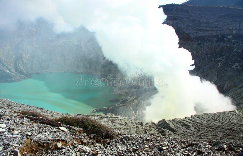 Volcano Mt IJEN royalty free stock photos