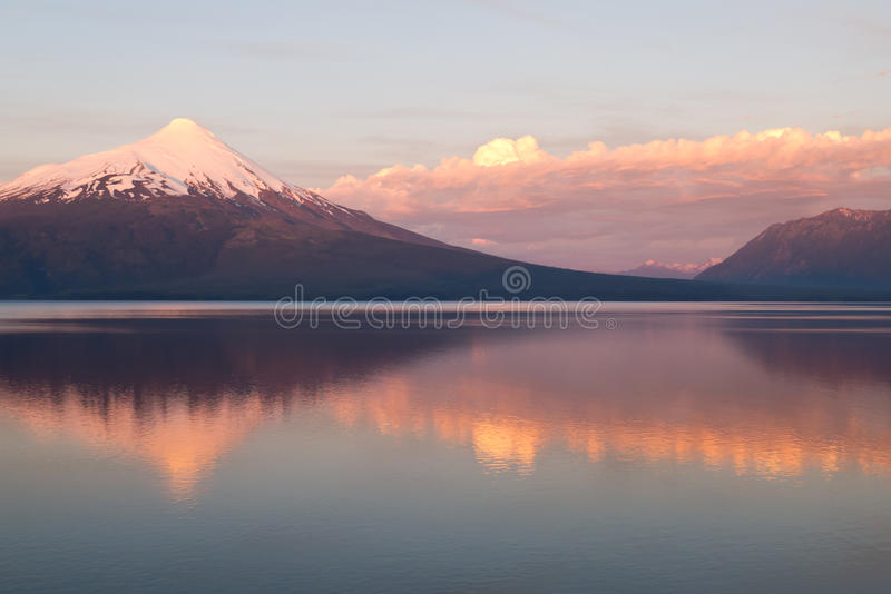 Download Volcano Osorno In Chile Wit Reflection In The Lake Stock Image - Image: 17537205