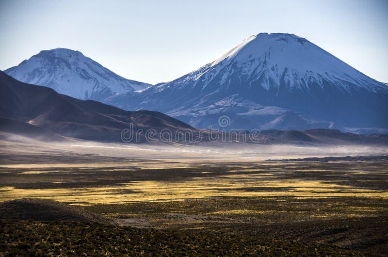 Volcano Parinacota, Cile fotografia stock