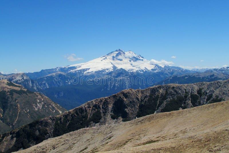 Volcano in Patagonia stock photo