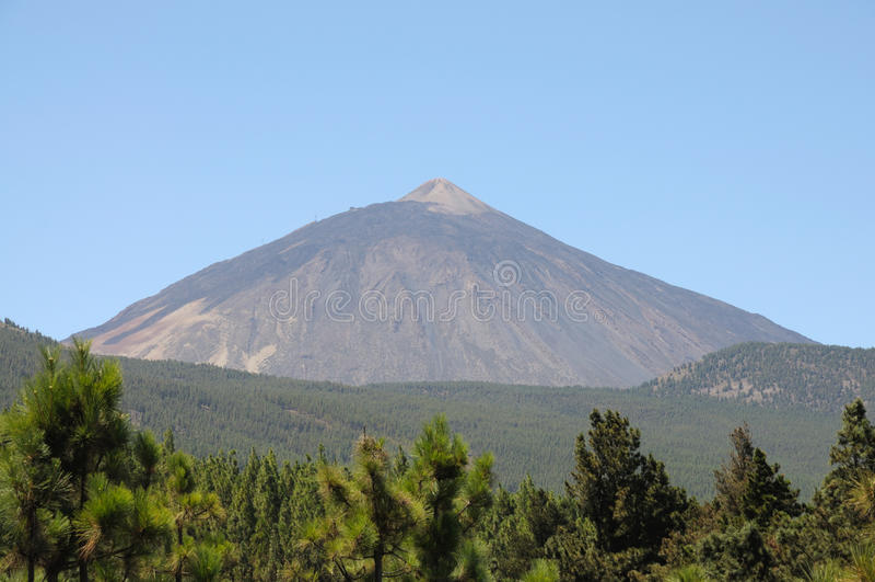 Volcano Pico DE Teide, Tenerife Spanje royalty-vrije stock afbeelding