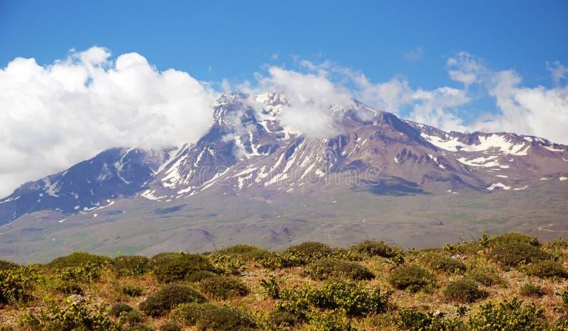 Volcano Sabalan Iran royaltyfri foto