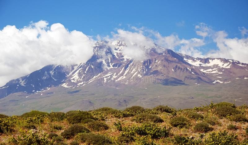 Volcano Sabalan, Iran royalty free stock photo