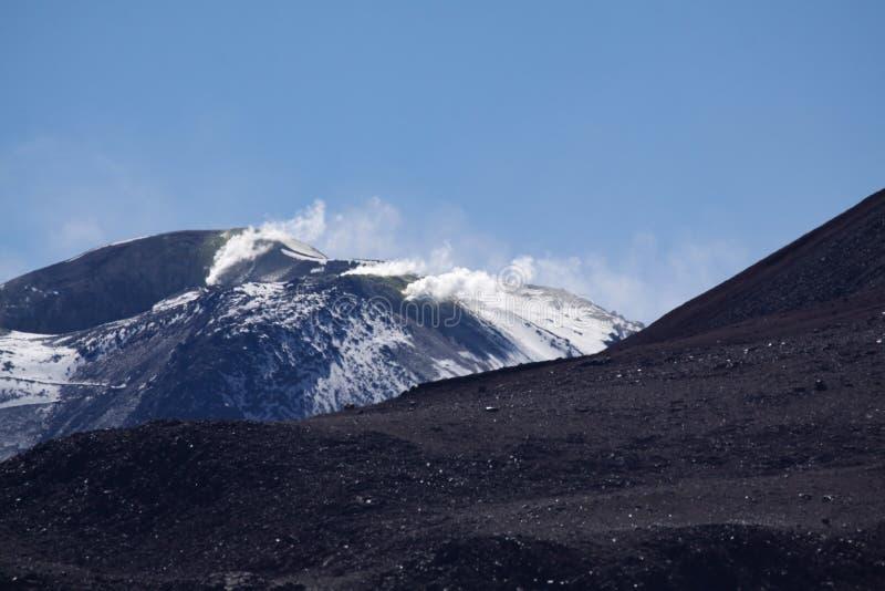Volcano Smoke royalty-vrije stock fotografie