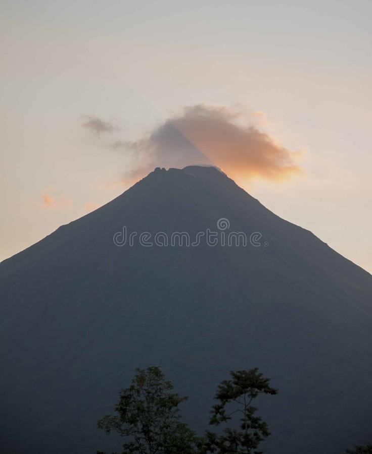 Volcano During Sunset royalty free stock images
