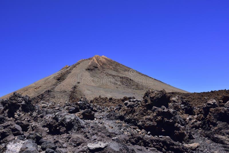 Volcano Teide, Tenerife 3718 metri Patrimonio naturale di UNESC fotografia stock