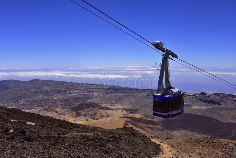 Volcano Teide, Tenerife 3718 metri Patrimonio naturale di UNESC immagine stock