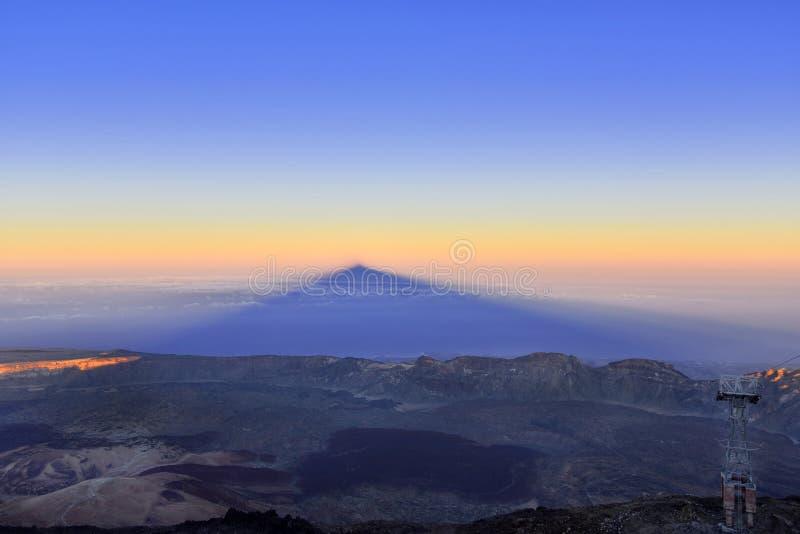 Volcano Teide, Tenerife 3718 metri Patrimonio naturale di UNESC fotografia stock libera da diritti