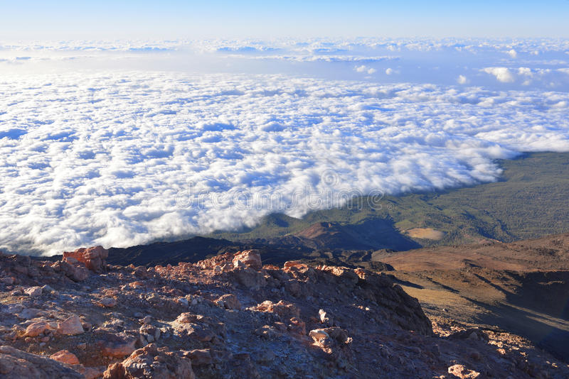Volcano Teide, & x28; Tenerife& x29; 3718 metri Patrimonio naturale di UNESC immagine stock