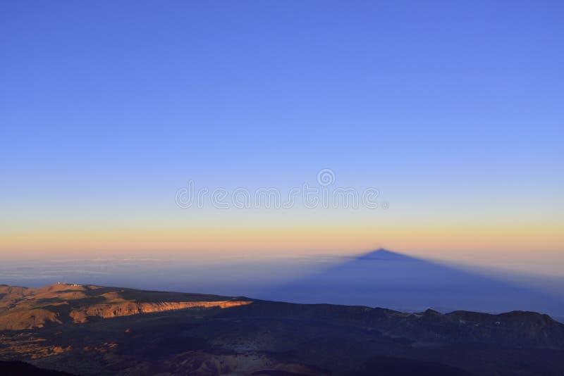 Volcano Teide, & x28; Tenerife& x29; 3718 metri Patrimonio naturale di UNESC immagini stock libere da diritti