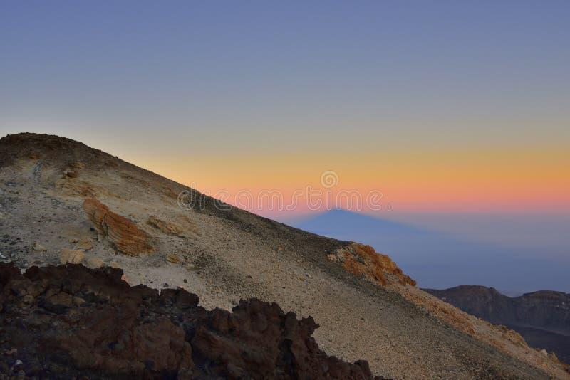 Volcano Teide, & x28; Tenerife& x29; 3718 metri Patrimonio naturale di UNESC fotografia stock libera da diritti