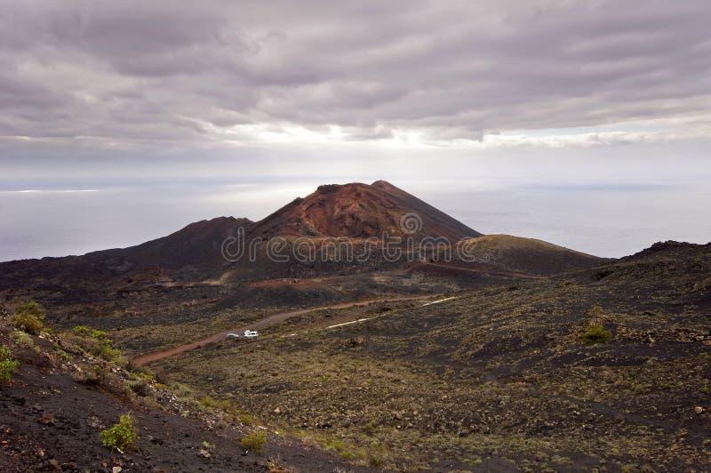 Volcano Teneguia em Fuencaliente - Los Canarios Landsca vulcânico fotos de stock