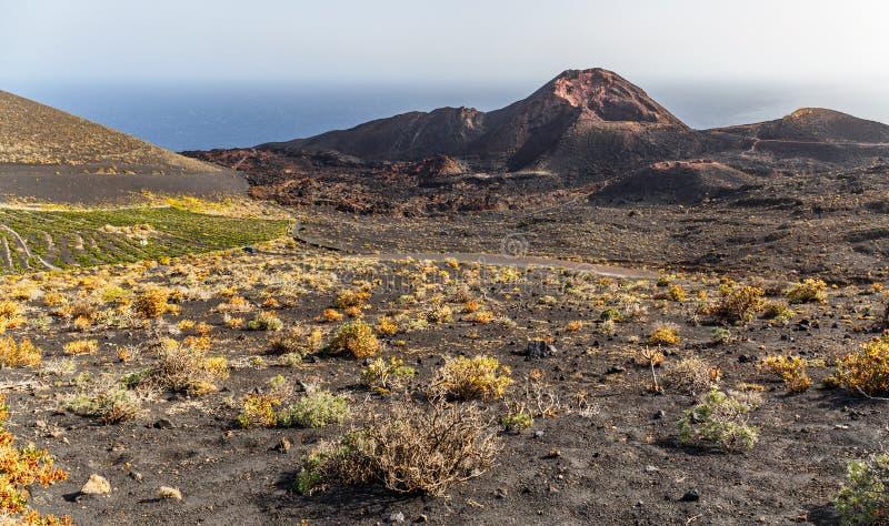 Volcano Teneguia no La Palma imagem de stock