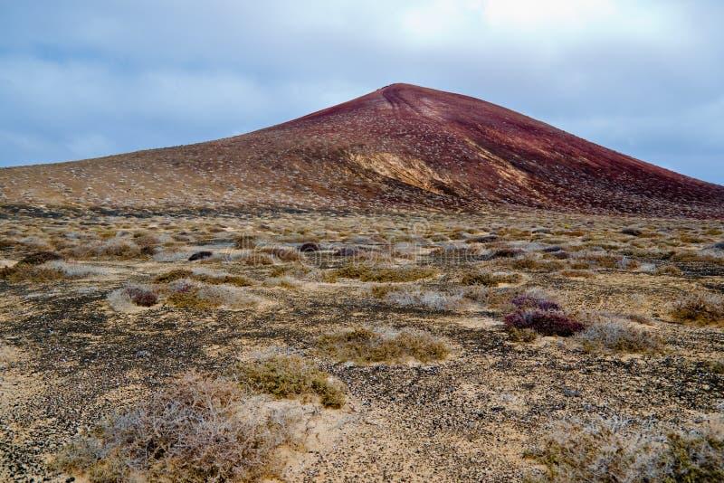 Volcano in Timanfaya, Lanzarote stock image