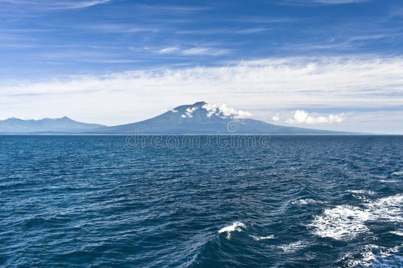 Volcano Tyatya.Kurily, island Kunashir stock photos
