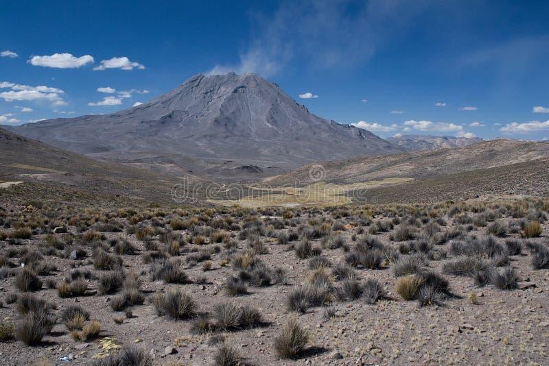 Download Volcano Ubinas stock image. Image of sunny, plants, stone - 27393695