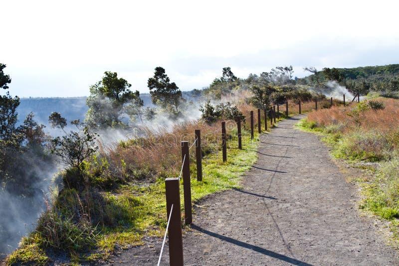 Volcano Vents na ilha grande fotos de stock