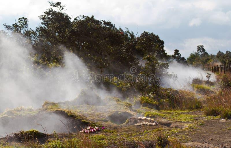 Volcano Vents na ilha grande fotografia de stock